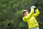 Li Jiayun of China tees off at the 14th hole during Round 2 of the World Ladies Championship 2016 on 11 March 2016 at Mission Hills Olazabal Golf Course in Dongguan, China. Photo by Victor Fraile / Power Sport Images