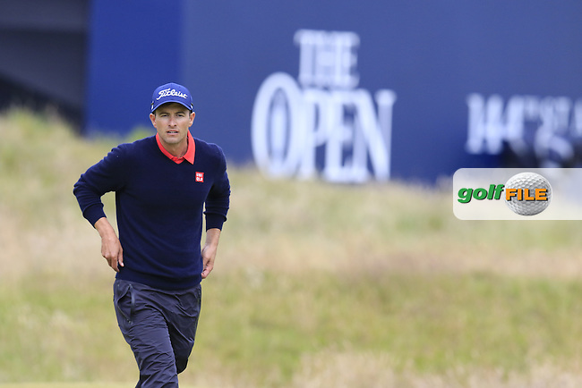 Adam Scott (AUS) the 17th green during Monday's Final Round of the 144th Open Championship, St Andrews Old Course, St Andrews, Fife, Scotland. 20/07/2015.<br /> Picture Eoin Clarke, www.golffile.ie