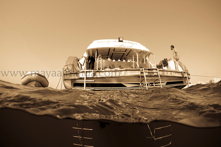 Dive boat in the Red Sea creative
