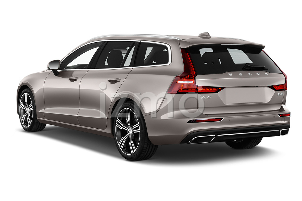 Car pictures of rear three quarter view of a 2019 Volvo V60 Inscription 5 Door Wagon angular rear
