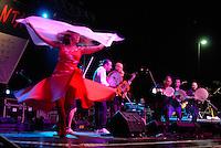 AGO 2012, Puglia, Salento, La Notte della Taranta è un festival di musica popolare salentina, la pizzica, che si svolge in vari comuni della provincia di Lecce e della Grecìa Salentina e ha il suo clou nel mese di agosto..AUG 2012, Apulia, Salento, The Night of Tarantula, the music fest of Pizzica which takes place in various municipalities in the province of Lecce and the Greece Salento and has its highlights in August.