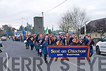 Listowel Mission Parade : Leading the Listowel Parish Mission parade on Sunday evening last were the members of Scoil an Chlochair marching band.