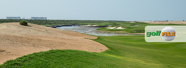 View of the 12th fairway at Al Zorah Golf Club, Dubai, United Arab Emirates.  26/01/2016. Picture: Golffile   David Lloyd<br /> <br /> All photos usage must carry mandatory copyright credit (&copy; Golffile   David Lloyd)