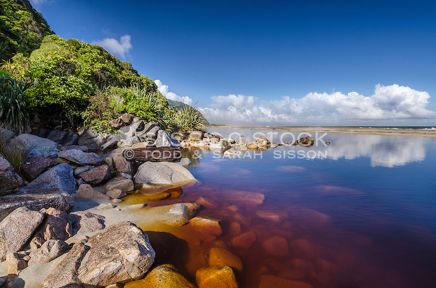 Karamea, Kohaihai, Beach, West Coast, New Zealand - stock photo, canvas, fine art print
