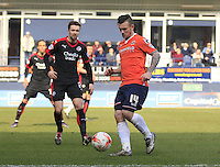 Jack Marriott of Luton Town in action during the Sky Bet League 2 match between Luton Town and Crawley Town at Kenilworth Road, Luton, England on 12 March 2016. Photo by Liam Smith.