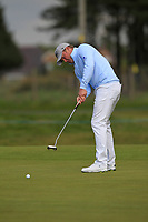 Jamie Donaldson (WAL) on the 3rd green during Round 2 of the Betfred British Masters 2019 at Hillside Golf Club, Southport, Lancashire, England. 10/05/19<br /> <br /> Picture: Thos Caffrey / Golffile<br /> <br /> All photos usage must carry mandatory copyright credit (&copy; Golffile | Thos Caffrey)