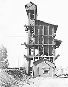 D&amp;RGW Chama coaling tower, east side.<br /> D&amp;RGW  Chama, NM  Taken by Schnepf, Ted - 6/1971