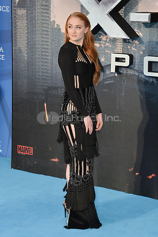 LONDON, ENGLAND - MAY 09  Sophie Turner attends the Global Fan Screening of 'X-Men Apocalypse', at the BFI IMAX, in London, England. 9th May 2016.<br /> CAP/JWP<br /> &copy;JWP/Capital Pictures /MediaPunch ***NORTH AND SOUTH AMERICAN SALES ONLY***