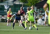 Kansas City, MO - Saturday June 25, 2016:  Becky Sauerbrunn, Kim Little during a regular season National Women's Soccer League (NWSL) match at Swope Soccer Village.