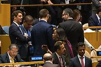 Nova York (EUA), 24/09/2019 - Assembléia Geral / ONU - Ricardo Salles (E) durante abertura da 74ª Assembleia Geral da Organização das Nações Unidas (ONU)  em Nova York nos Estados Unidos nesta terça-feira, 24. (Foto: William Volcov/Brazil Photo Press/Agencia O Globo) Mundo