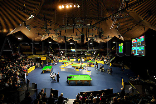 30.01.2013. Berlin, Germany.  German Masters 2013 Picture shows the Venue of Tempodrom  Arena Hall