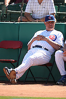 MESA, AZ - FEBRUARY 26:  Portrait of manager Lou Piniella of the Chicago Cubs during their spring training game against the Milwaukee Brewers at HoHoKam Park in Mesa, Arizona on February 26, 2009.  Photo by Brad Mangin