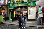 Lucille and John pose for a picture in front of The Old Mille Restaurant on Temple Bar Street in Dublin, Ireland on Saturday, June 22nd 2013. (Photo by Brian Garfinkel)