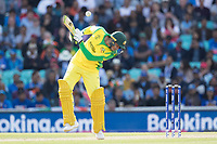 Usman Khawaja (Australia) evades a short delivery from Hardik Pandya (India) during India vs Australia, ICC World Cup Cricket at The Oval on 9th June 2019