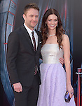 "Lydia Hearst and Chris Hardwick attends The World Premiere of Marvel's ""Avengers"" Age of Ultron,"" held at The Dolby Theatre in Hollywood, California on April 13,2015                                                                               © 2014 Hollywood Press Agency"