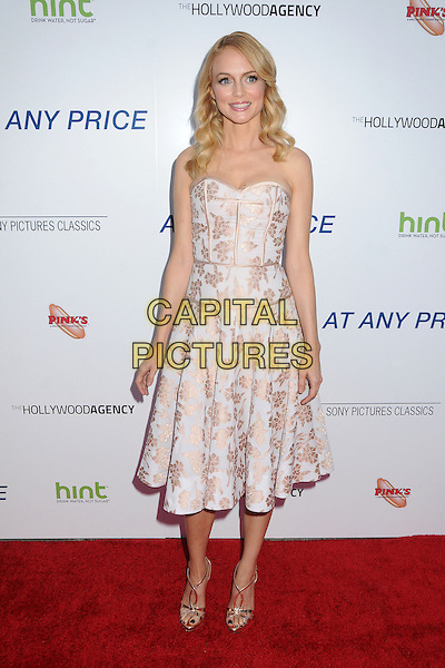 "Heather Graham.""At Any Price"" Los Angeles Premiere held at The Egyptian Theatre, Hollywood, California, USA..April 16th, 2013.full length white pink strapless dress shiny floral print .CAP/ADM/BP.©Byron Purvis/AdMedia/Capital Pictures"