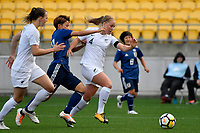 Ferns&rsquo; CJ Bott and Japan&rsquo;s Mina Tanaka in action during the  International Football - Football Ferns v Japan  at Westpac Stadium, Wellington, New Zealand on Sunday 10 June 2018.<br /> Photo by Masanori Udagawa. <br /> www.photowellington.photoshelter.com