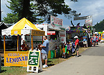 A variety of food concessions at Cheshire Fair in Swanzey, New Hampshire USA