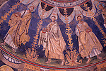 Mosaic on the ceiling of the Baptistry of Neon in Ravenna, Italy. The Baptistry was built in the 4th and 5th century and this photograph shows a portion of the lower ring of mosaics on the ceiling that depicts the twelve apostles.