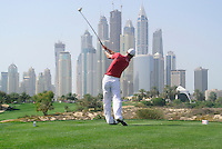 Martin Kaymer (GER) tees off on the 8th tee during Saturday's  Round 3 of the 2012 Omega Dubai Desert Classic at Emirates Golf Club Majlis Course, Dubai, United Arab Emirates, 11th February 2012(Photo Eoin Clarke/www.golffile.ie)