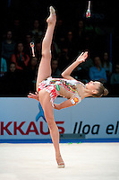 February 27, 2016 - Espoo, Finland - ALEKSANDRA SOLDATOVA of Russia performs in EF at Espoo World Cup 2016.