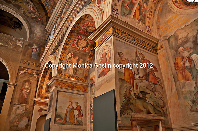 Nun's Choir with frescos from the 15th and 16th centuries, and only open to the public since 2002 after restoration work. The Nun's Choir is above the Church of San Salvatore where the nuns held religious functions, hidden from view