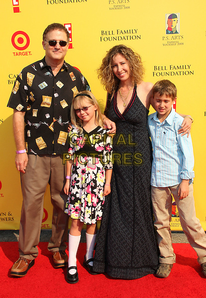"ALBERT & LINDA BROOKS & FAMILY .""2008 P.S. ARTS' Express Yourself"" Sponsored By Target Event, Santa Monica, California, USA..November 16th, 2008.full length sunglasses shades kids children dress black brown trousers pattern shirt .CAP/ADM/KB.©Kevan Brooks/AdMedia/Capital Pictures."