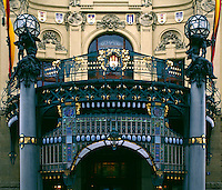 Front of the MUNICIPAL OPERA HOUSE in PRAGUE - CZECH REPUBLIC