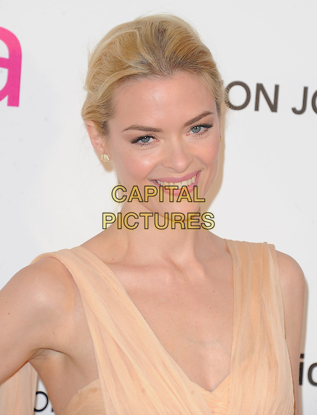 Jaime King.The 21st Annual Elton John AIDS Foundation Academy Awards Viewing Party held at The City of West Hollywood Park in West Hollywood, California, USA..February 24th, 2013.oscars headshot portrait orange pink peach sheer.CAP/DVS.©DVS/Capital Pictures.