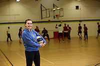 Pictured: Chloe playing basketball at the sports hall. Friday 26 September 2014<br />