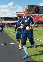 August 18, 2012: Sporting KC goalkeeper Eric Kronberg #18 in action during the warm-up in an MLS game between Toronto FC and Sporting Kansas City at BMO Field in Toronto, Ontario Canada..Sporting Kansas City won 1-0.