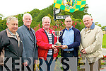 Listowel racing Cup: Pictured at the announcement of Listowel  Racing Cup in golf to be played during Listowel race week...Willie Wixted, Hon Sec., Mick Barrett, President, Patrick Doody, Captain Listowel Golf Club, John McGuire of McGuire's Pharmacy, Sponsors and Pat O'Sullivan, Treasurer.