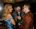 WEST HOLLYWOOD, CA. - February 08: Musicians Sheryl Crow, The Edge and Bono attend the Universal Music Group Chairman Doug Morris' Grammy Awards Viewing Dinner at The Palm on February 8, 2009 in West Hollywood, California.