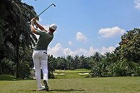 Lucas Bjerregaard (DEN) in action on the 4th tee during Round 1 of the Maybank Championship at the Saujana Golf and Country Club in Kuala Lumpur on Thursday 1st February 2018.<br /> Picture:  Thos Caffrey / www.golffile.ie<br /> <br /> All photo usage must carry mandatory copyright credit (© Golffile | Thos Caffrey)
