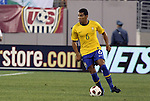10 AUG 2010: Andre Santos (BRA). The United States Men's National Team lost to the Brazil Men's National Team 0-2 at New Meadowlands Stadium in East Rutherford, New Jersey in an international friendly soccer match.