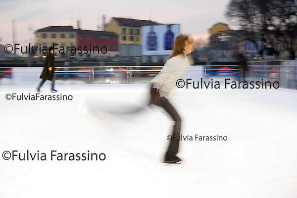 Milano Pattinaggio sulla Darsena