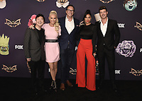 "BEVERLY HILLS  - SEPTEMBER 10:  Ken Jeong, Jenny McCarthy, Charlie Collier (CEO of FOX Entertainment) Nicole Scherzinger and Robin Thicke attend the season two premiere event for FOX's ""The Masked Singer"" at The Bazaar at the SLS Beverly Hills on September 10, 2019 in Beverly Hills, California. (Photo by Scott Kirkland/FOX/PictureGroup)"