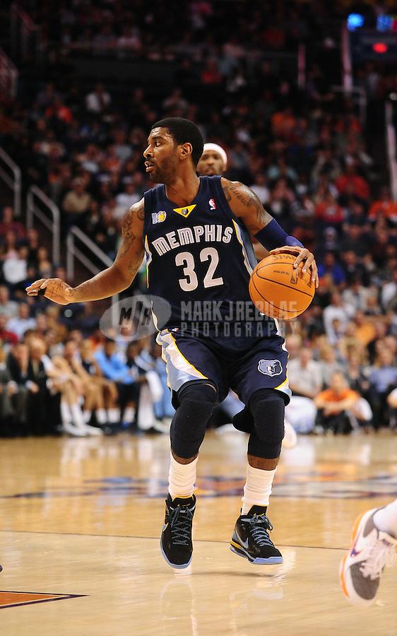 Dec. 8, 2010; Phoenix, AZ, USA; Memphis Grizzlies guard (32) O.J. Mayo against the Phoenix Suns at the US Airways Center. Memphis defeated Phoenix 104-98 in overtime. Mandatory Credit: Mark J. Rebilas-