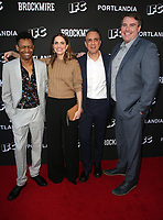 "NORTH HOLLYWOOD, CA - MAY 15: Tyrel Jackson Williams, Amanda Peet, Hank Azaria, Joel Church-Cooper, at IFC Hosts ""Brockmire"" And ""Portlandia"" EMMY FYC Red Carpet Event at Saban Media Center at the Television Academy, Wolf Theatre in North Hollywood, California on May 15, 2018. Credit: Faye Sadou/MediaPunch"