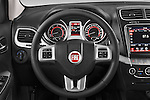 Car pictures of steering wheel view of a 2014 Fiat FREEMONT LOUNGE 5 Door SUV 2WD Steering Wheel