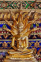 Small Buddha on altar, Wat Pho, Bangkok, Thailand