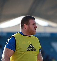 12th January 2020; RDS Arena, Dublin, Leinster, Ireland; Heineken Champions Champions Cup Rugby, Leinster versus Lyon Olympique Universitaire; Sean Cronin (Leinster) warms up before the match - Editorial Use