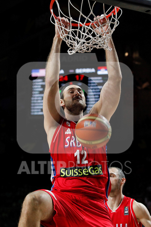 Serbia´s Krstic during FIBA Basketball World Cup Spain 2014 final match between United States and Serbia at `Palacio de los deportes´ stadium in Madrid, Spain. September 14, 2014. (ALTERPHOTOSVictor Blanco)