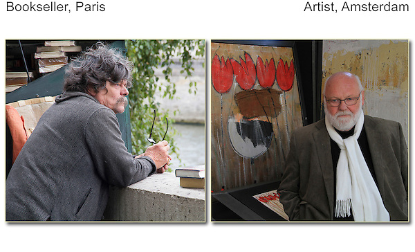 Melancholy, bookseller (Paris) and artist (Amsterdam).