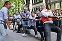 Tug-of-war contest in Marunouchi business district