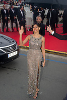 "Frieda Pinto arrives for the screening of "" Jeune & Jolie "" directed Francois Ozon at the Palais of Festivals during the 66th Annual Cannes Film Festival in Cannes  .Cannes 18/5/2013 .Festival del Cinema di Cannes .Foto Panoramic / Insidefoto .ITALY ONLY"