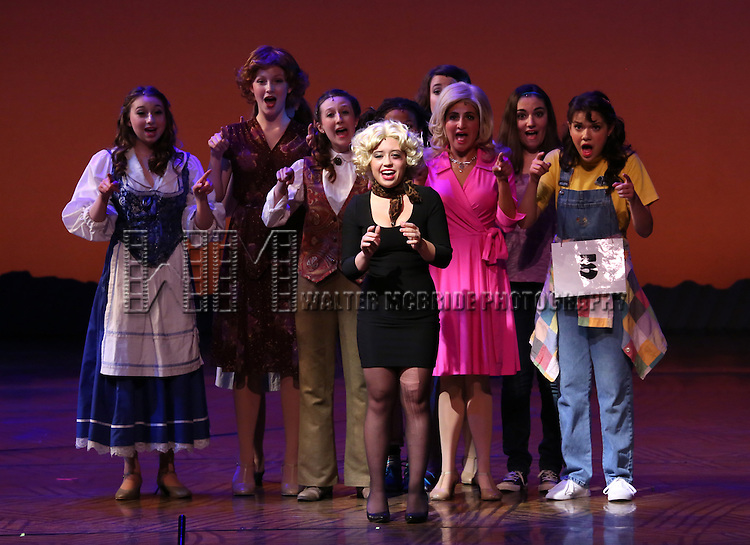 Award Nominees performing at The 5th Annual National High School Musical Theater Awards (aka The Jimmy Awards) at Minskoff Theater on July 1, 2013 in New York City.