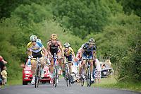 breakaway group up Cote de la Redoute (max 14%)<br /> <br /> Ster ZLM Tour 2014