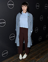 09 January 2019 - Hollywood, California - Emily Skeggs. Lifetime Winter Movies Mixer held at The Andaz, Studio 4. Photo Credit: Birdie Thompson/AdMedia