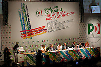 NAPOLI 15/06/2012 CONFERENZA NAZIONALE PER IL LAVORO DEL PARTITO DEMOCRATICO.NELLA FOTO .FOTO CIRO DE LUCA.